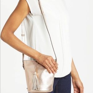 Boden Bags - Boden rose gold tana crossbody leather bag